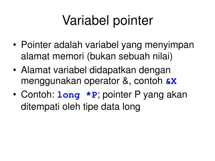 Variabel pointer