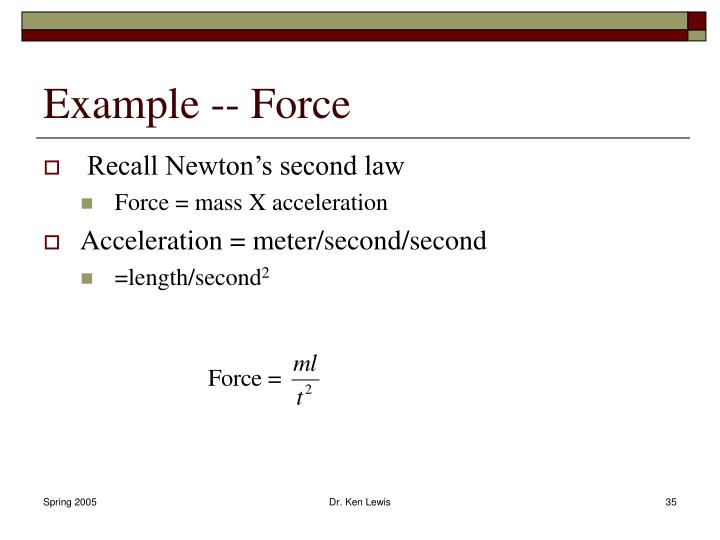Example -- Force