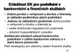 d le itost ek pro podnik n v bankovnictv a finan n ch slu b ch
