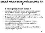 etick kodex bankovn asociace r 2