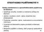 etick kodex poji ovnictv 11