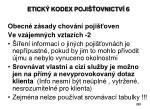 etick kodex poji ovnictv 6