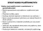etick kodex poji ovnictv 9