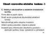 obsah vzorov ho etick ho kodexu 3