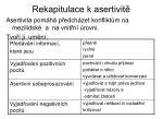 rekapitulace k asertivit