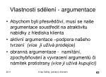 vlastnosti sd len argumentace