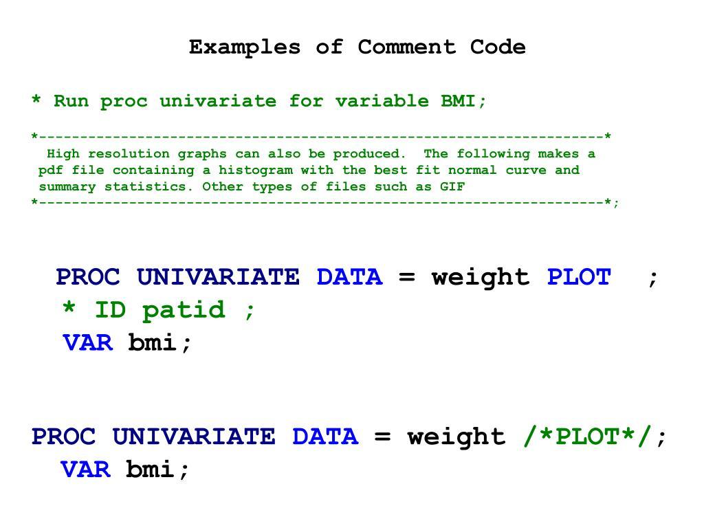 PPT - 描述统计的SAS 方法PowerPoint Presentation - ID:4751000