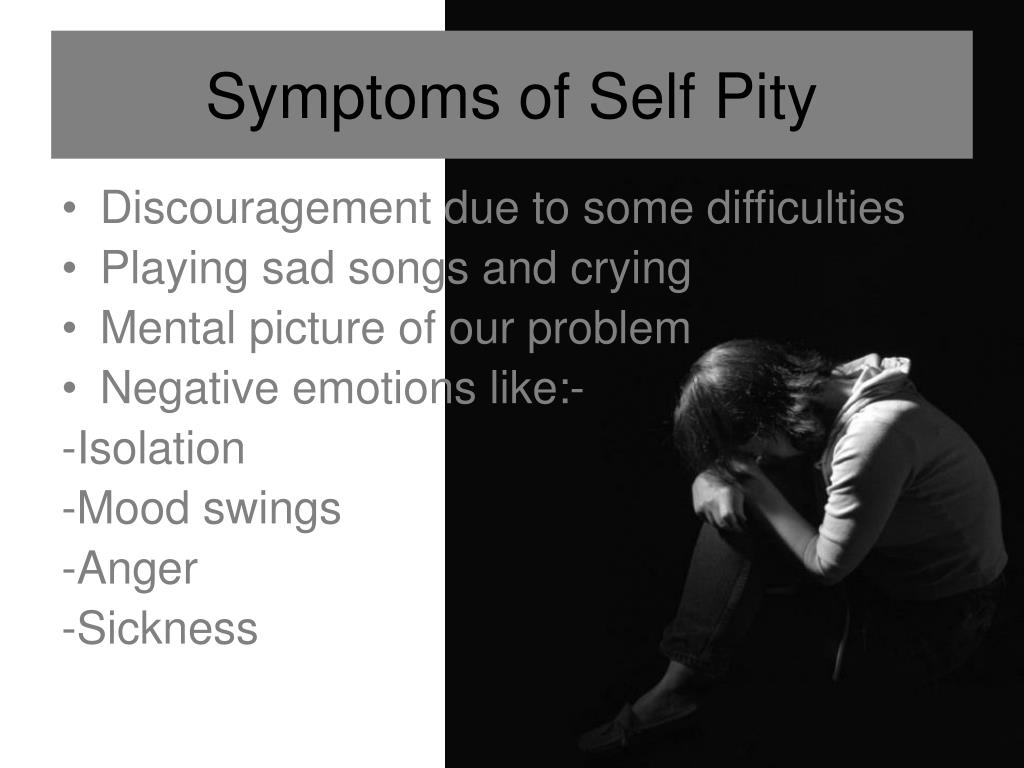 """PPT - Saying """"NO"""" to Self Pity PowerPoint Presentation ..."""
