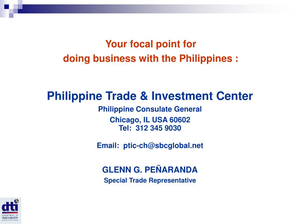 PPT - Business Opportunities: Philippines PowerPoint