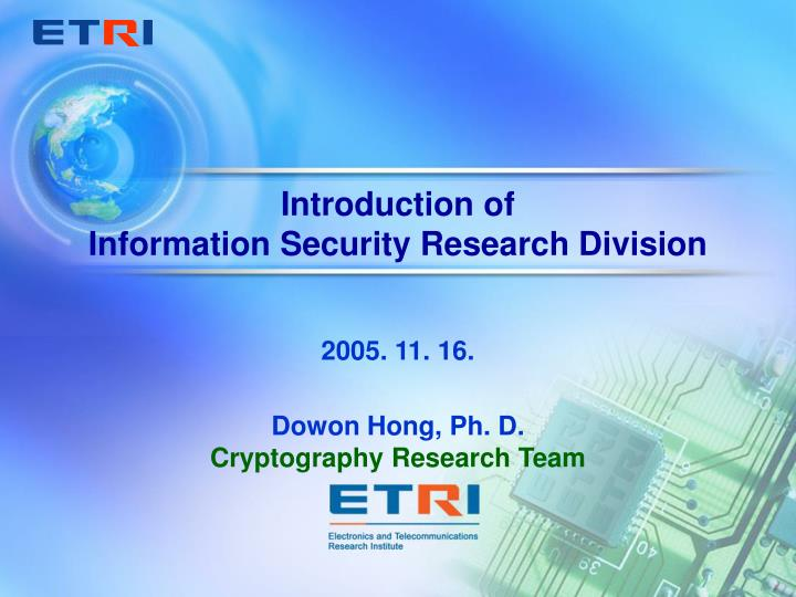 information technology security research paper