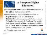 a european higher education