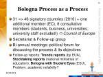 bologna process as a process