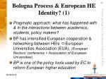 bologna process european he identity 1