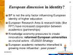 european dimension in identity