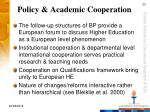 policy academic cooperation
