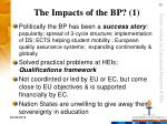the impacts of the bp 1