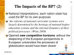the impacts of the bp 2