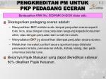 pengkreditan pm untuk pkp pedagang eceran