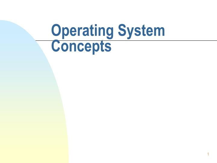 operating system concepts n.