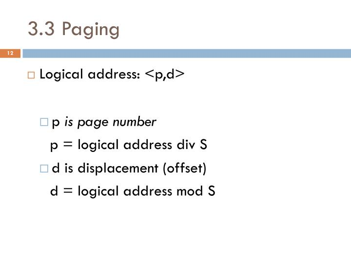 3.3 Paging