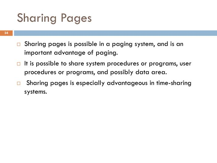 Sharing Pages