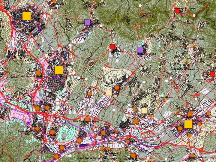 Palau-solità i Plegamans i Lliçà,    noves àrees de polaritat,                      al costat de les polaritats territorials de Terrassa, Sabadell i Granollers