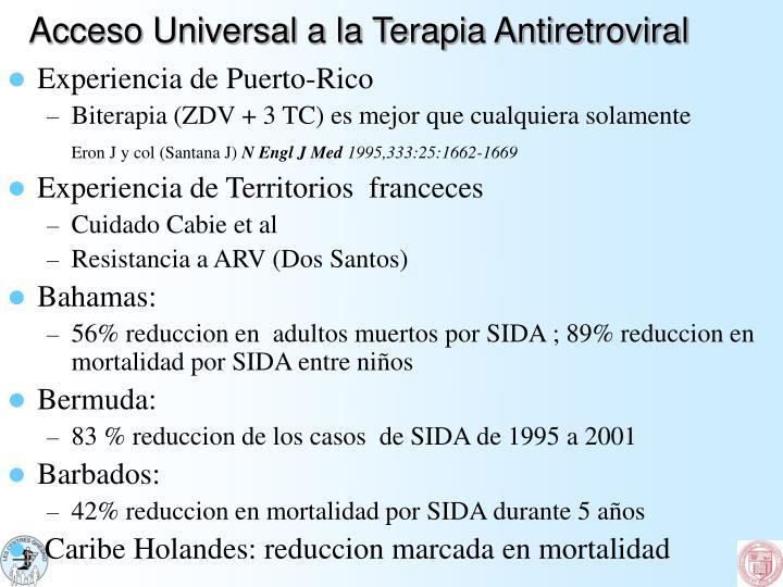 Acceso Universal a la Terapia Antiretroviral