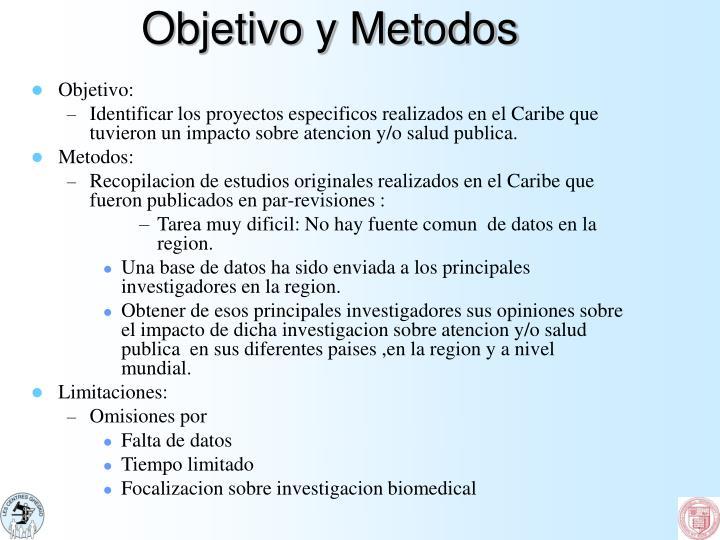 Objetivo y metodos