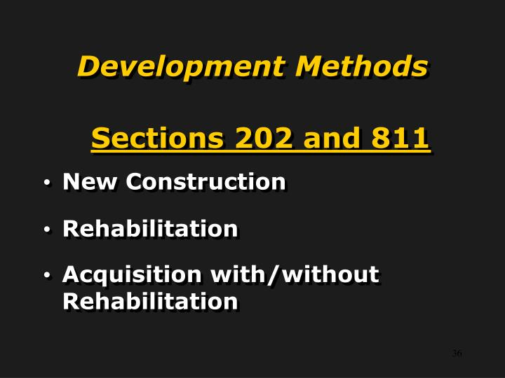 Sections 202 and 811
