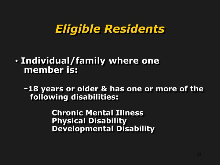Individual/family where one