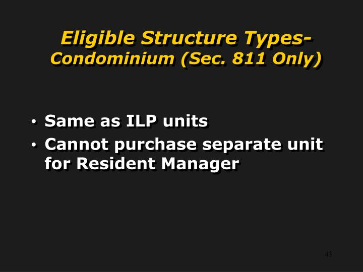 Eligible Structure Types-