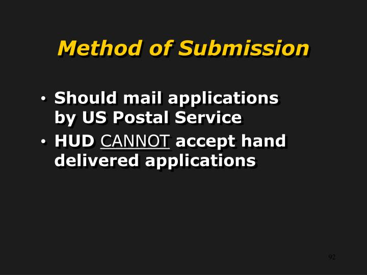 Method of Submission