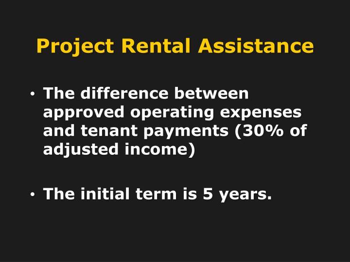 Project Rental Assistance