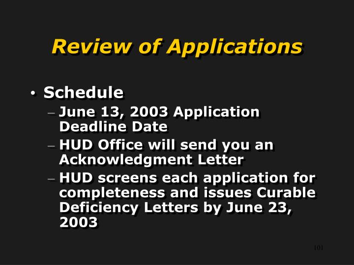 Review of Applications