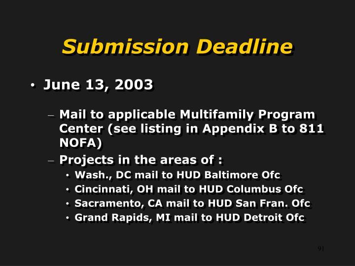 Submission Deadline
