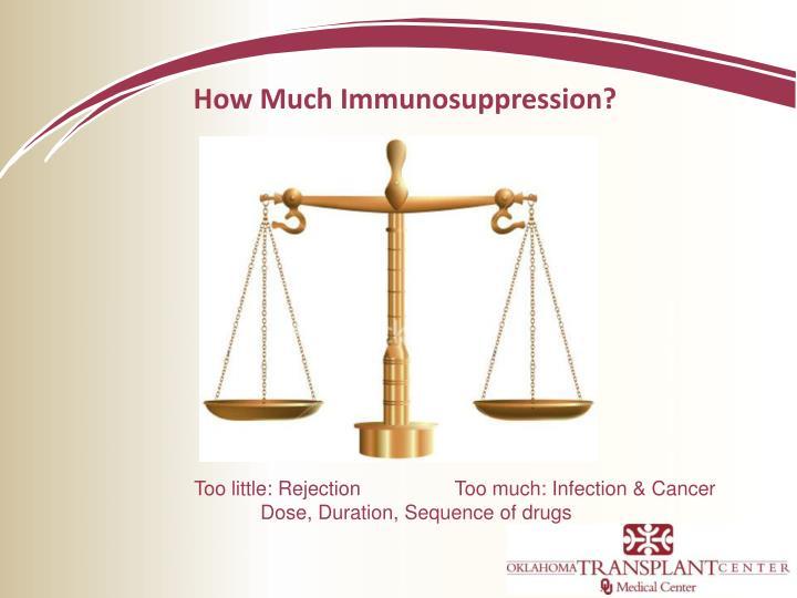 How Much Immunosuppression?