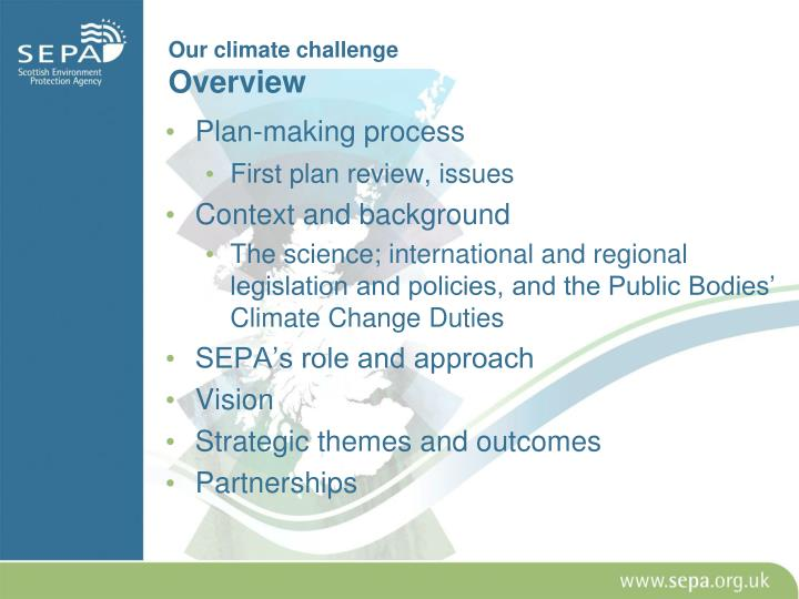 Our climate challenge overview