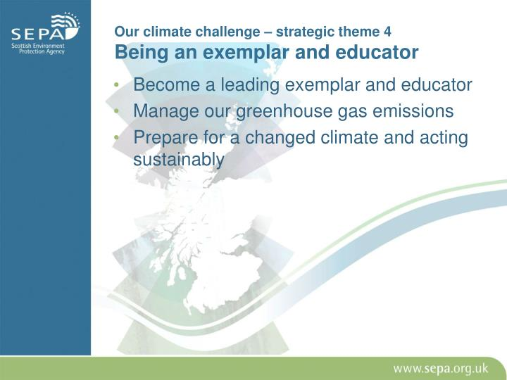 Our climate challenge – strategic theme 4