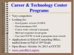 career technology center programs