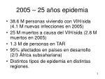 2005 25 a os epidemia