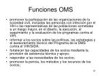 funciones oms1