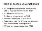 hacia el acceso universal 2008