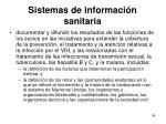 sistemas de informaci n sanitaria