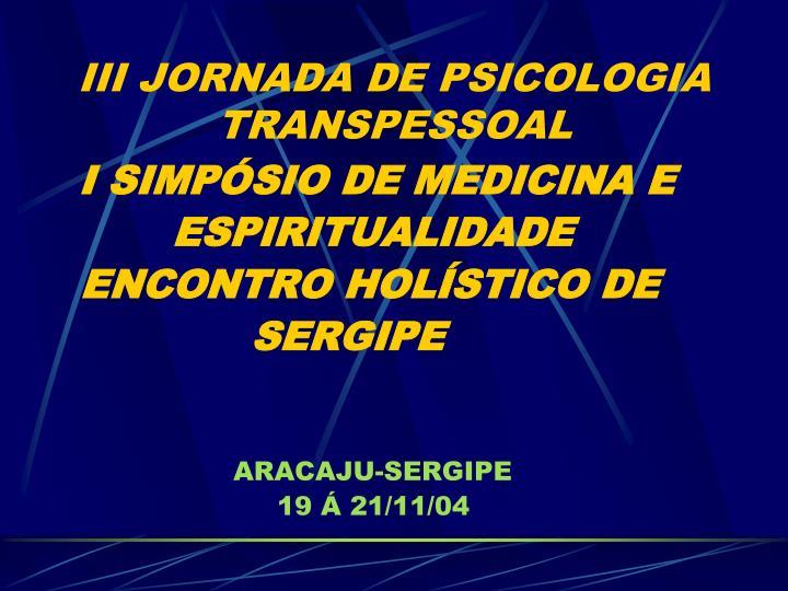 Iii jornada de psicologia transpessoal