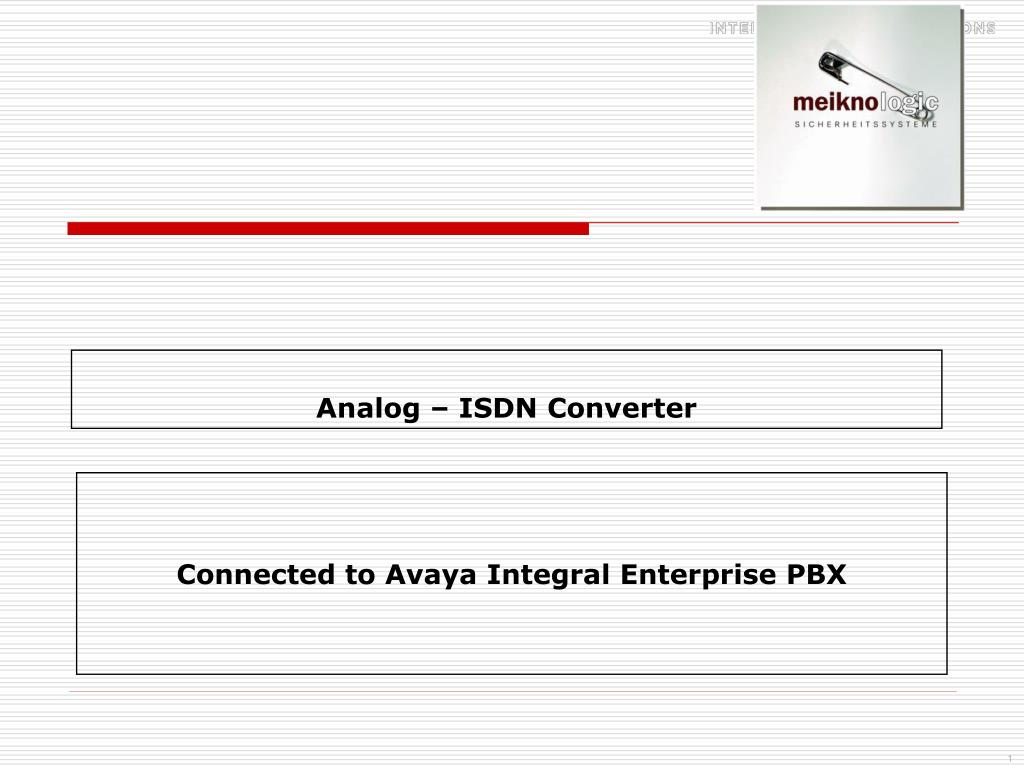 Ppt Analog Isdn Converter Powerpoint Presentation Id4752234 What Triac Is And How It Works Circuitry Basics Youtube N