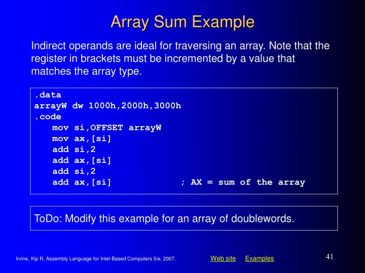 Array Sum Example