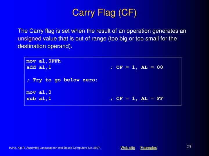 Carry Flag (CF)
