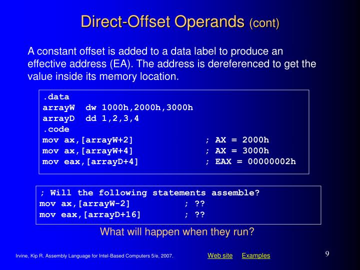 Direct-Offset Operands