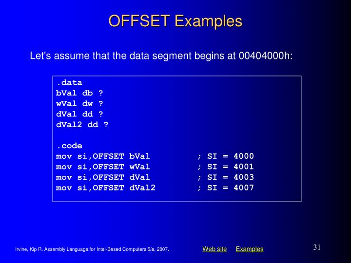 OFFSET Examples