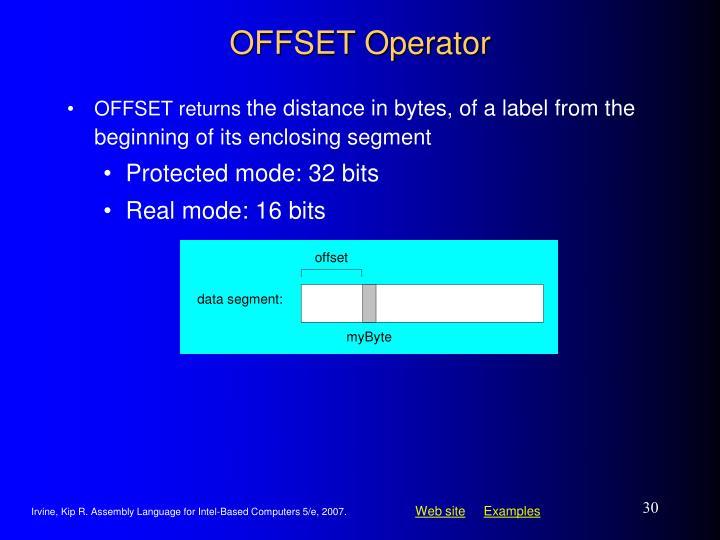 OFFSET Operator
